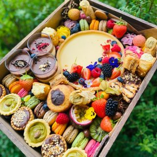 """""""YOU DESSERT IT""""   We recommend this dessert graze feeds 5-9 people but in reality it could definitely feed more, with over 50 pieces of dessert!   Our wooden Grazing Trays manufactured locally in the West Midlands create a rustic platform for us to create the perfect grazing tray for you, this dessert graze is priced at £75  #grazingtables #grazingtable #grazingtablesandcheeseboards #grazing #grazingplatter #grazingboard #grazingbox #solihullbusiness #solihull #solihullfood #solihullfoodie #birminghambusiness #birminghamfood #birminghamfoodie #foodtrends #spreadsandbreads #foodporn #platters #partyfood #eventcatering #foodevents #foodgifts  #spreadsandbreadssolihull  #weddingcatering #weddingcaterer #partycatering #partycaterer @solihullcouncil @solihullforsuccess"""
