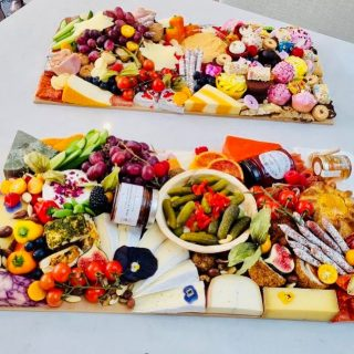 """Let's go """"ALL-OUT""""   We created two """"ALL OUT"""" platters boards this weekend for a birthday celebration, each board we recommend feeds 10-14 people!  We created an all savoury adult platter graze with all the meat produce in one section, some guests where vegetarian so we made sure that the meat produce was all on one section of the platter. This all savoury platter can with a box of crackers and the customer asked us to substitute some of the savoury snacks for some sweet treats. So a third of the cracker box included bit size desserts!  We also created a kids style """"ALL OUT"""" platter with a mix of savoury and sweet. The cracker box also included savoury crisps and snacks!  #grazingtables #grazingtable #grazingtablesandcheeseboards #grazing #grazingplatter #grazingboard #grazingbox #solihullbusiness #solihull #solihullfood #solihullfoodie #birminghambusiness #birminghamfood #birminghamfoodie #foodtrends #spreadsandbreads #foodporn #platters #partyfood #eventcatering #foodevents #foodgifts  #spreadsandbreadssolihull  #weddingcatering #weddingcaterer #partycatering #partycaterer @solihullcouncil @solihullforsuccess"""