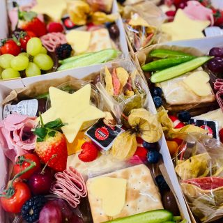 Zoom Party Graze! We've created six individual teenage inspired savoury grazes today for a virtual Birthday Party 🥳 Individual grazes are £15 each with a minimum order of three. Today's individual SAVOURY grazes includes: a selection of cheese - Brie, Port Salut, @babybel.uk ,spreadable cheese, cheddar stars and hearts. A pot of pickles and olives, fresh fruits & vegetables, selection of crackers, hummus, rainbow nachos, chutney, charcuterie meats, ham, cocktail sausages, sausage rolls and falafel, nuts! #grazingtables #grazingtable #grazingtablesandcheeseboards #grazing #grazingplatter #grazingboard #grazingbox #solihullbusiness #solihull #solihullfood #solihullfoodie #birminghambusiness #birminghamfood #birminghamfoodie #foodtrends #spreadsandbreads #foodporn #platters #partyfood #eventcatering #foodevents #foodgifts #spreadsandbreadssolihull #weddingcatering #weddingcaterer #partycatering #partycaterer @solihullcouncil @solihullforsuccess