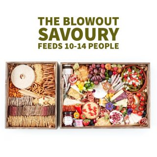 The BLOWOUT Savoury feeds 10-14 people, priced at £140  Our wooden Grazing Trays manufactured locally in the West Midlands create a rustic platform for us to create the perfect grazing tray for you. The Blowout Tray the crackers are served in a separate tray so you get more of the good stuff on the actual tray!!  These boxes are perfect for special occasions like birthdays, date nights, business meetings and training courses or occasion you want to make that little bit more special. Bonus you get to keep the wooden tray, glass jars and bowls on your grazing tray – who doesn't love tableware!  We love to personalise so let us know if it's for an occasion or if you want to theme its contents or personalise the wooden tray with someone's name or special date etc we laser engrave in-house for an additional £5  #grazingtables #grazingtable #grazingtablesandcheeseboards #grazing #grazingplatter #grazingboard #grazingbox #solihullbusiness #solihull #solihullfood #solihullfoodie #birminghambusiness #birminghamfood #birminghamfoodie #foodtrends #spreadsandbreads #foodporn #platters #partyfood #eventcatering #foodevents #foodgifts  #spreadsandbreadssolihull  #weddingcatering #weddingcaterer #partycatering #partycaterer @solihullcouncil @solihullforsuccess