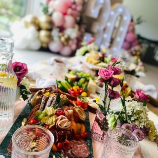 The big 3 0, turning 30 never looked so beautiful with our LUXE INDOOR PICNIC GRAZE  We style outdoor picnic parties from April – September (weather dependent) and indoor picnic parties all year around. The perfect party styling for all occasions from birthdays, to hens and baby showers!  Perfect for all kinds of celebrations! This beautiful display is so versatile and can be set up in all kinds of spaces, both indoors and outdoors:   * Low level table * Floor rugs, cushions, woven grass floor seats and pouffe * Eco disposable bamboo plates and cutlery  * Linen napkins * Table decor including fresh or dried flowers * Drinkware - disposable, glasses and cups  * Choose from: Savoury, Dessert, Brunch or Afternoon Tea style graze   Upgrade options available: * china plates & cutlery * Personalised linen napkins for you to keep * Personalised glassware  * Alcoholic drinks - ready made cocktails  From 10-16 place settings at £27 per head + setup/delivery/collection fee £30 + mileage. We require a £50 refundable damage fee.  Working with @withlovebluebell today who created the most stunning balloons!   The customer also requested three bottles of @shakermakercocktails ready made pornstar martinis, we provided the martini glasses and passion fruits 🍸They are £18. 750ml serves 4-6 glasses.  #grazingtables #grazingtable #grazingtablesandcheeseboards #grazing #grazingplatter #grazingboard #grazingbox #solihullbusiness #solihull #solihullfood #solihullfoodie #birminghambusiness #birminghamfood #birminghamfoodie #foodtrends #spreadsandbreads #foodporn #platters #partyfood #eventcatering #foodevents #foodgifts  #spreadsandbreadssolihull  #weddingcatering #weddingcaterer #partycatering #partycaterer @solihullcouncil @solihullforsuccess