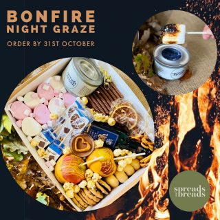 BONFIRE NIGHT GRAZE 🔥   Celebrate bonfire night this year with our INDOOR graze kit, complete with INDOOR burner to toast your giant marshmallows, make them into S'mores with Bahlsen Choco Leibniz Milk Chocolate Biscuits!   The kit comes with: - INDOOR GEL BURNER - Giant and Mini Marshmallows  - Bahlsen Choco Leibniz Milk Chocolate Biscuits - x2 chocolate dipped apples  - Chocolate Ganche for dipping - Mini cookies - Popcorn - Mini Donuts - Pretzels - Mini Bottle of Red Wine - Mulled Wine Spices Bag - x2 Choc-O-Lait - Hot Chocolate on a Stick - x5 INDOOR Sparklers   £30 FAMILY BONFIRE GRAZE - AVAILABLE 4-7th NOV 2021  BOOK YOUR GRAZE by completing the online enquiry form and we'll get back to you to discuss your requirements.   https://spreadsandbreads.co.uk/book/  Please check your JUNK MAIL for our reply if you haven't heard from us within 24 hours   ORDER UNTIL 31st OCTOBER   #grazingtables #grazingtable #grazingtablesandcheeseboards #grazing #grazingplatter #grazingboard #grazingbox #solihullbusiness #solihull #solihullfood #solihullfoodie #birminghambusiness #birminghamfood #birminghamfoodie #foodtrends #spreadsandbreads #foodporn #platters #partyfood #eventcatering #foodevents   #spreadsandbreadssolihull #bonfirenight #bonfirenights  @chocolaituk @bahlsen.uk